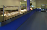 School food service counters